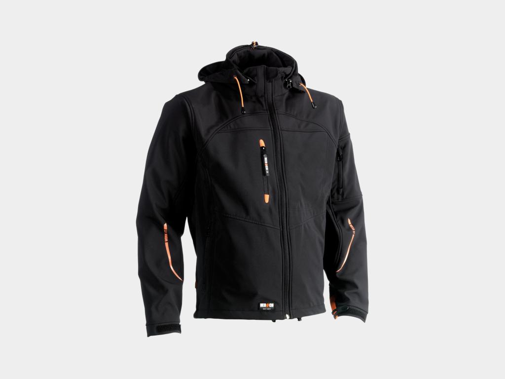 Herock Poseidon Water-Repellent Softshell Jacket Black